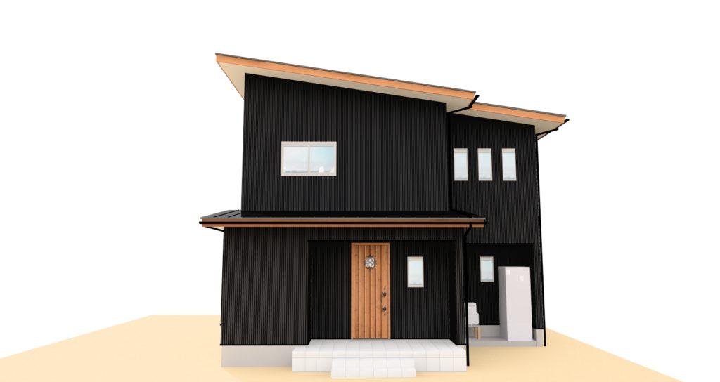 外観パース 新築住宅